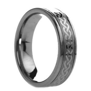 6 mm Mens Tungsten Carbide Rings Celtic Knot Design   Free