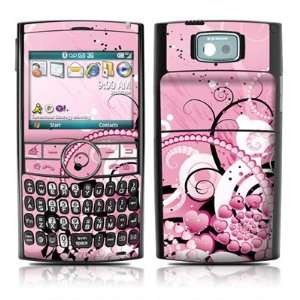 Abstraction Pink Hearts Skin Cover Decal for Samsung Blackjack 2 II