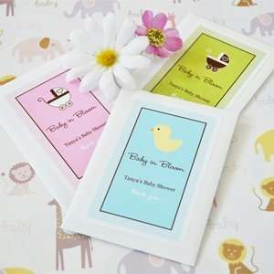 Baby in Bloom Personalized Shower Seed Packets   Baby Shower Gifts