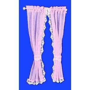 Pink Ruffled Sheer Curtain: Toys & Games