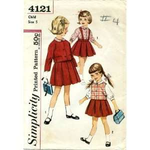 Simplicity 4121 Sewing Pattern Girls Skirt Jacket Blouse
