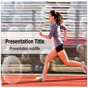 Powerpoint Template   Athlete Powerpoint (PPT) Backgrounds Slides