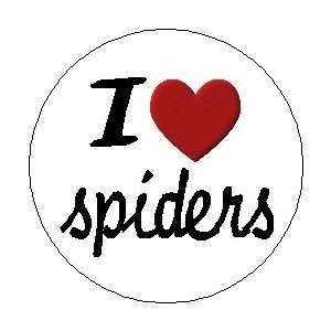 I LOVE / HEART SPIDERS 1.25 Pinback Button Badge / Pin