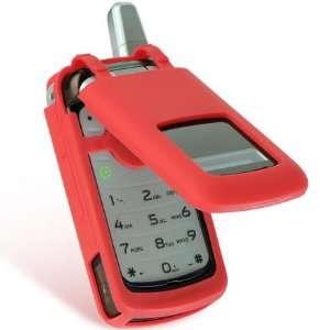 Red Silicone Soft Skin Cover Nextel Motorola i776 Sprint