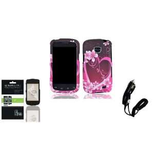 Straight Talk Samsung Galaxy Proclaim Purple Love Faceplate Hard Phone