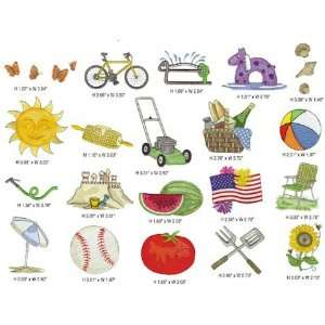 Summer Vacation Embroidery Designs Simplicity Memory Card