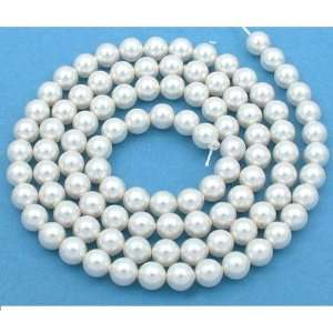 100 White Swarovski Crystal Pearl Beads Jewelry 6mm