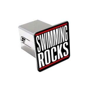 Swimming Rocks   2 Chrome Tow Trailer Hitch Cover Plug