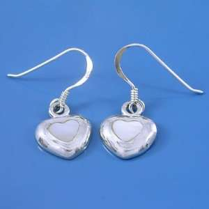 3.35 Grams 925 Sterling Silver Heart Symbol White Pearl