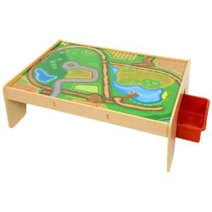 Bigjigs Train Set Table with Drawers Toys & Games