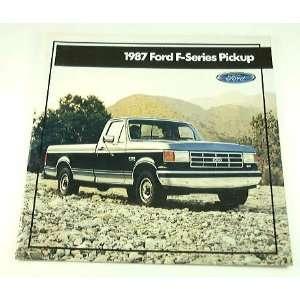 1987 87 Ford F SERIES PICKUP Truck BROCHURE F150 F250
