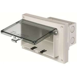 Arlington DBHR141C 1 Horizontal Electrical Box with Weatherproof Cover