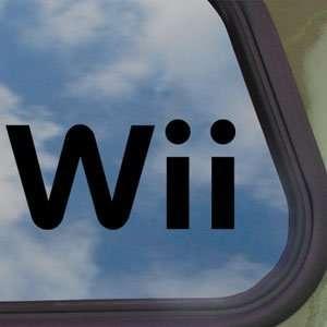 Wii Black Decal Car Truck Bumper Window Vinyl Sticker