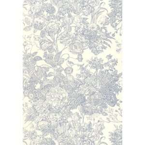 Toile Florissante Hyacinth by F Schumacher Wallpaper Home