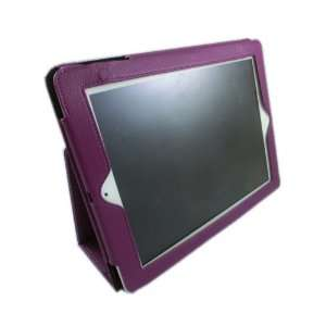 Premium leather case cover PURPLE color for IPAD2 any