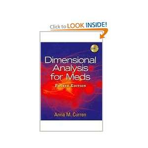 Analysis for Meds (Book Only) (9781111319366) Anna M. Curren Books