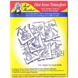 Aunt Marthas Hot Iron Transfers for Embroidery Red Work