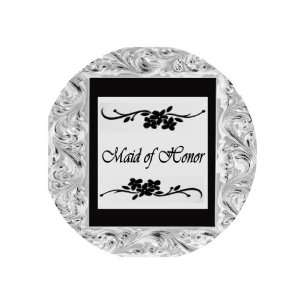 Maid of Honor 1.25 Pinback Badge Button