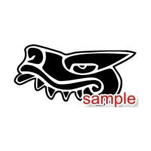 ANIMALS AZTEC ALLIGATOR 10 WHITE VINYL DECAL STICKER