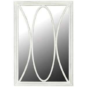 Antique Whirl White 40 High Wall Mirror Home & Kitchen