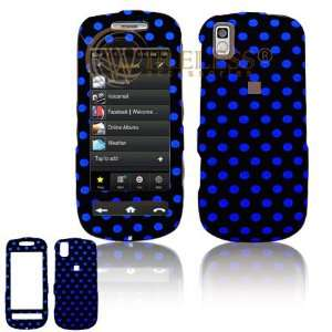 Black with Blue Polka Dots Design Rubber Feel Snap On