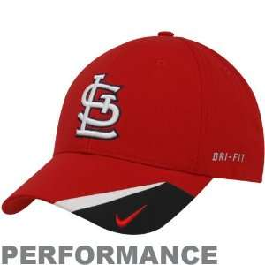 Nike St. Louis Cardinals Red Bright Light Performance Adjustable Hat