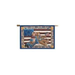 God Bless America by Donna Jensen Vertical/Banner Flag