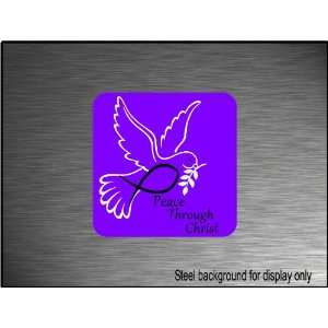 Christian Peace Dove Decal 5x5 Bumper Sticker Everything