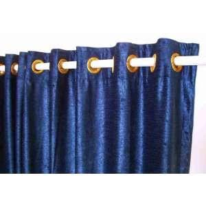 Ring Top / Grommet Top Navy Blue Velvet Curtains / Drapes