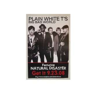 Plain White Ts Poster Big Bad World Tees Tees