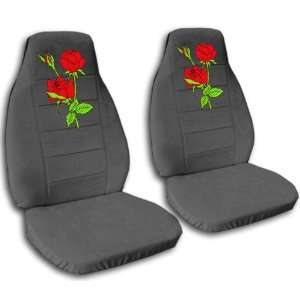 car seat covers, with red roses, for a 1999 Nissan Sentra. Automotive