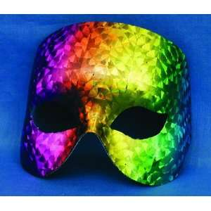 Holographic Rainbow Molded Half Face Eye Mask Made in Italy   Adult