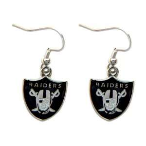 OK RA DA ER   Oakland Raiders Dangle Logo Earring Set