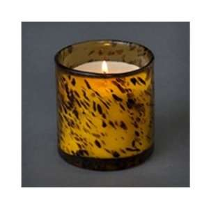 Soy Candles in Tiger Print Recycled Glass Tumblers Home & Kitchen