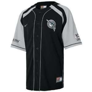 Nike Florida Marlins Black Hardball Jersey  Sports