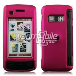 VMG Hot Pink Hard 2 Pc Rubberized Texture Plastic Snap On Case for