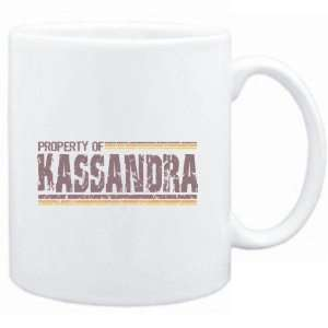 Mug White  Property of Kassandra   Vintage  Female Names