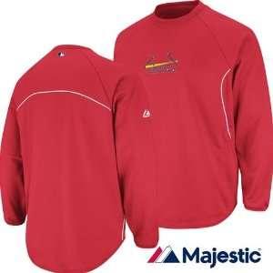 St. Louis Cardinals Therma Base Tech Fleece Jacket (Scarlet