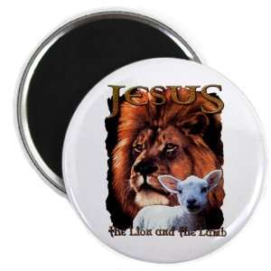 2.25 Magnet Jesus The Lion And The Lamb: Everything Else