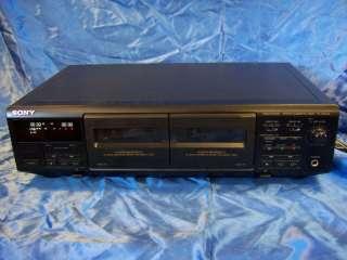 SONY TC WE405 DUAL CASSETTE DECK auto reverse recorder