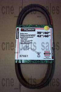 MURRAY RIDING MOWER TRANSMISSION V DRIVE BELT 37x61