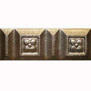 Astral Gold Floral2 in. x 6 in. Ceramic Listel Wall Tile  DISCONTINUED