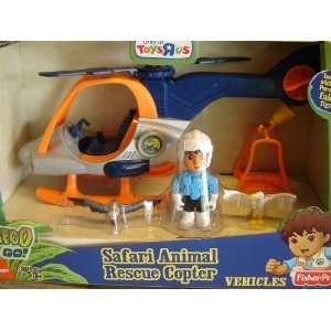Go Diego Go Safari Animal Rescue Helicopter [Toy] Toys & Games