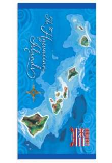 Hawaiian Hawaii Design Beach / Bath / Pool Towel 60 x 30 ~ Anniversary