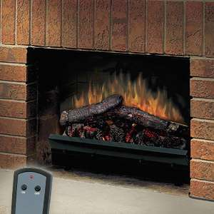 Dimplex 23 Deluxe Electric Fireplace LED Log Set & Trim Kit   DFI2310