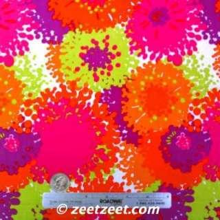 Alexander Henry~FLOWER BURST~ORANGE Quilt Fabric /Yd.