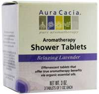 Aura Cacia Relaxing Aromatherapy Shower Tablets Lavender    3 Tablets