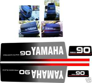 YAMAHA 90 HP DECALS, OUTBOARD REPRODUCTION