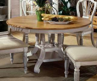 Wilshire Round Oval Dining Table   Antique White   Hillsdale [HD 4508