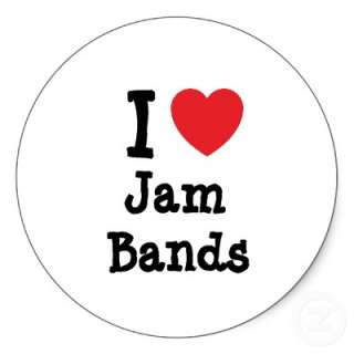 love Jam Bands heart custom personalized Stickers from Zazzle